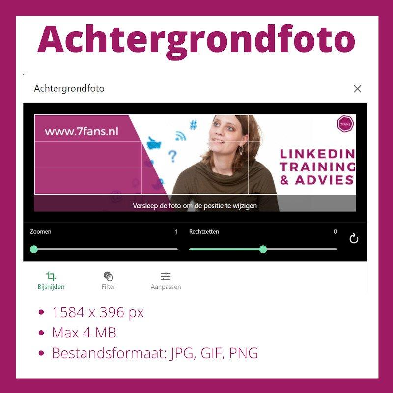 linkedin foto formaten
